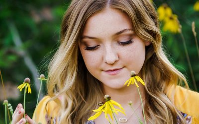 High School Senior Photos with Chloe from Huntley High School