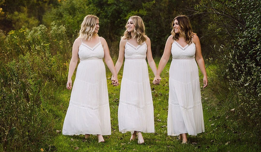 Senior Photos with Burlington Central Triplets Macey, Maddie and Morgan