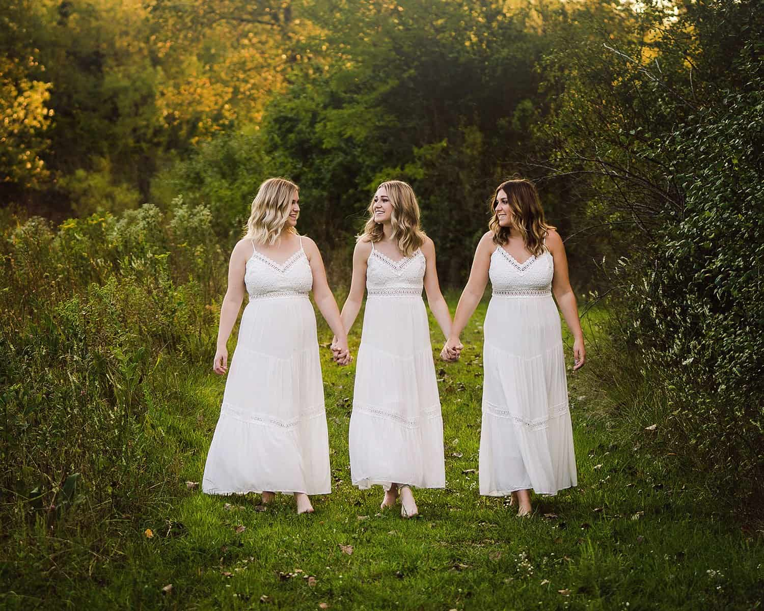 nfocus photos crystal Lake senior photographer triplets Burlington IL senior photo shoot